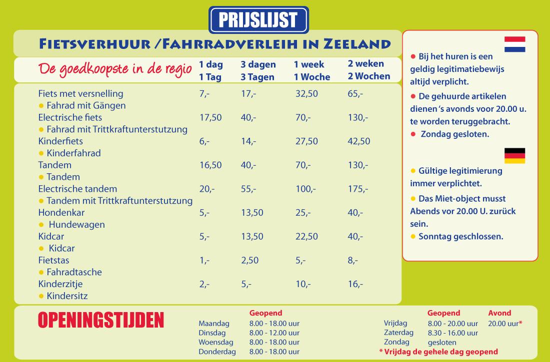 Fietsverhuur in Zeeland